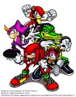 Knuckles_Chaotix_Color by kathy-lu