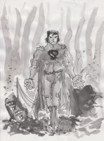 Ink trial Superman by tarunbanned