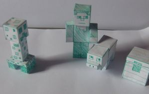 Minecraft Papercraft by Perianth5