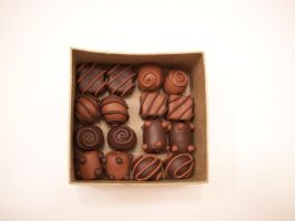 Dark Chocolate Caramel box by KimsButterflyGarden