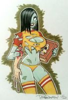 Zombie Tramp Marker Sketch by BillMcKay