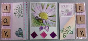 Glittered Springtime ATC's by sumting707