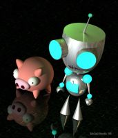 Gir and Piggy ...doom by TheDoomKat