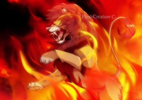 FIRE KING by FleshCreature