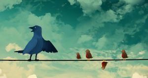 The Birds on a Wire by Esomnus