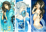 - Gift - Blue Ladies II by ooneithoo