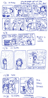 2009 Diary Comic - August. by taeshilh