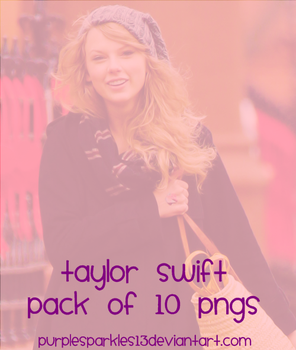 Taylor Swift pack of 10 PNGs by PurpleSparkles13