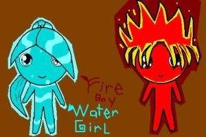 fireboy and watergirl by sailormars2000