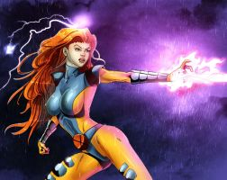 Jean Grey colored Boom by discipleneil777