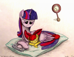 Nap Time with Applebloom (Request for Brony250) by TheFriendlyElephant
