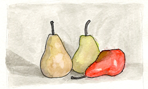 Three pears, again by AmbroseButtercrust