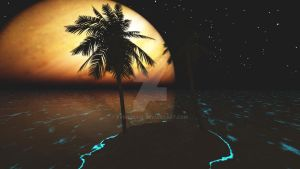 Tropical Bliss - Night by Evender28