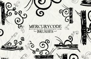 Brushset 05: swirls by mercurycode