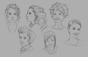 Faces Practice 2 by JohnoftheNorth