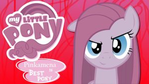 Wallpaper Pinkamena is best pony by Barrfind