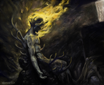 hell is a chair of antlers by gunmettle