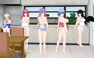Kanojo x Kanojo x Kanojo Girls Aprons by quamp
