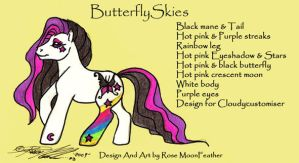 Custom design ButterflySkies by moonfeather