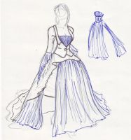 Dress Design in Blue by obiwankatie