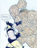 Wolverine vs Clayface by Jose-Ramiro