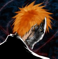 ichigo is trying to look buch? by neronin
