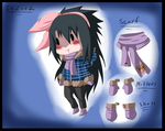 Chibi reference: Mimi's Winter Outfit by itasasu2002