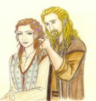 Sigrid and Fili braiding hair by EPH-SAN1634