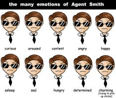 the emotions of Agent Smith by cassandraharley