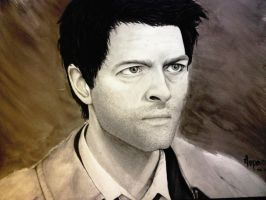 Castiel-Pencil+Ink by nupao