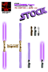 Stock:Star Wars Lightsabers 4 by Eat-Sith