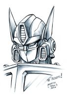 Optimus prime sketch by EnricoGalli