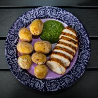 Turkeybreast with Papas Arrugadas and Mojo Verde by attomanen