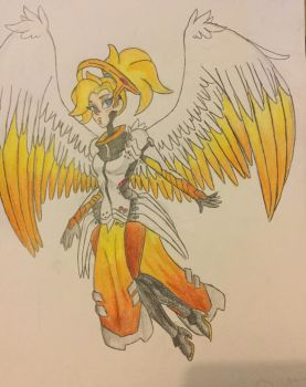Overwatch - Mercy by MsCreepyPlagueDoctor