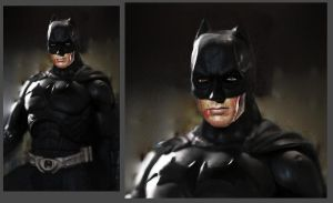 Clint Eastwood as Batman by CyranoInk