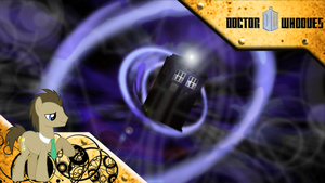 FiM: Doctor Whooves WP Blue Vortex by M24Designs
