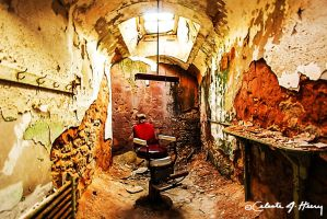 Abandoned Penitentiary - Barber Chair by cjheery