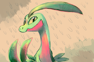 Grovyle by sweating