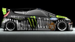 Ken Block Ford Fiesta Gymkhana by DarkStryder360