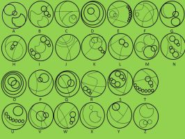 Gallifreyan Alphabet by DarkIfaerie