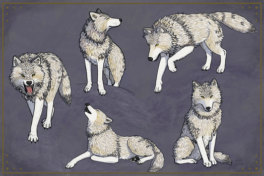 Wolves Wolves Wolves by Weaselon