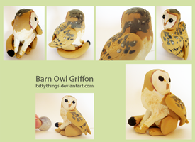 Barn Owl Griffon - SOLD by Bittythings