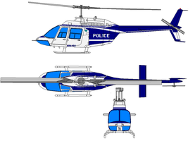 bell 206 police by bagera3005
