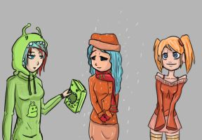 Girls wearing different uniforms 2014 by ineedpractice