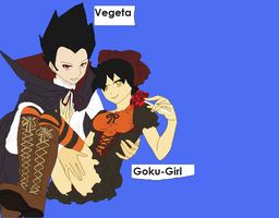Vegeta and Goku girl by DragonGurl123