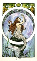 Art Nouveau Mermaid by Farothiel