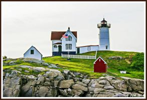 Cape Neddick Lighthouse: AKA: Nubble Lighthouse. by JDM4CHRIST