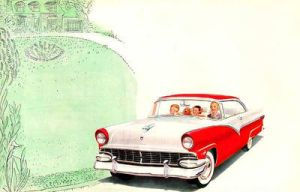 age of chrome and fins : 1956 Ford by Peterhoff3