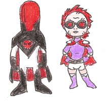 Red Hood and Scarlet by Mbecks14