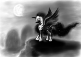 In the moonlight by grayma1k